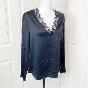 Cooper&ella black ruffled long sleeves stitch fix